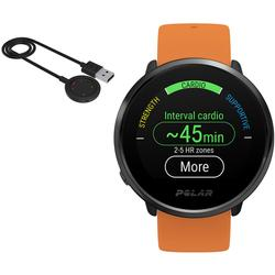 Polar Ignite GPS Heart Rate Monitor Watch - Orange/Black (M/L) with BONUS Charging Cable