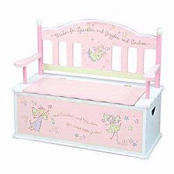 Levels of Discovery LOD61001 Fairy Wishes Bench Seat With Storage
