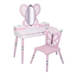 Levels of Discovery LOD70006 Sugar Plum Vanity Table & Chair Set