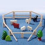 3517 Haba Fences, Trees, and Animals Building Blocks Accessory