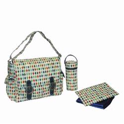 kalencom 2961 coated double buckle diaper bag play diamonds free shipping. Black Bedroom Furniture Sets. Home Design Ideas